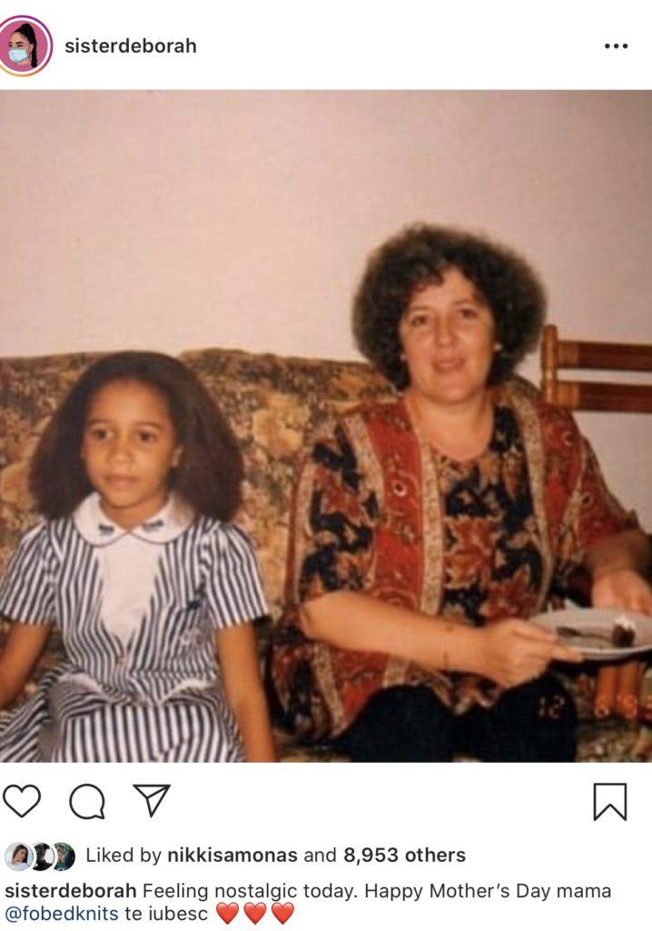 Biological sister of musician Wanlov Da Kubolor, Sister Deborah (Sister Derby) celebrate their mother, Felicia Owusu-Bonsu on her Instagram.