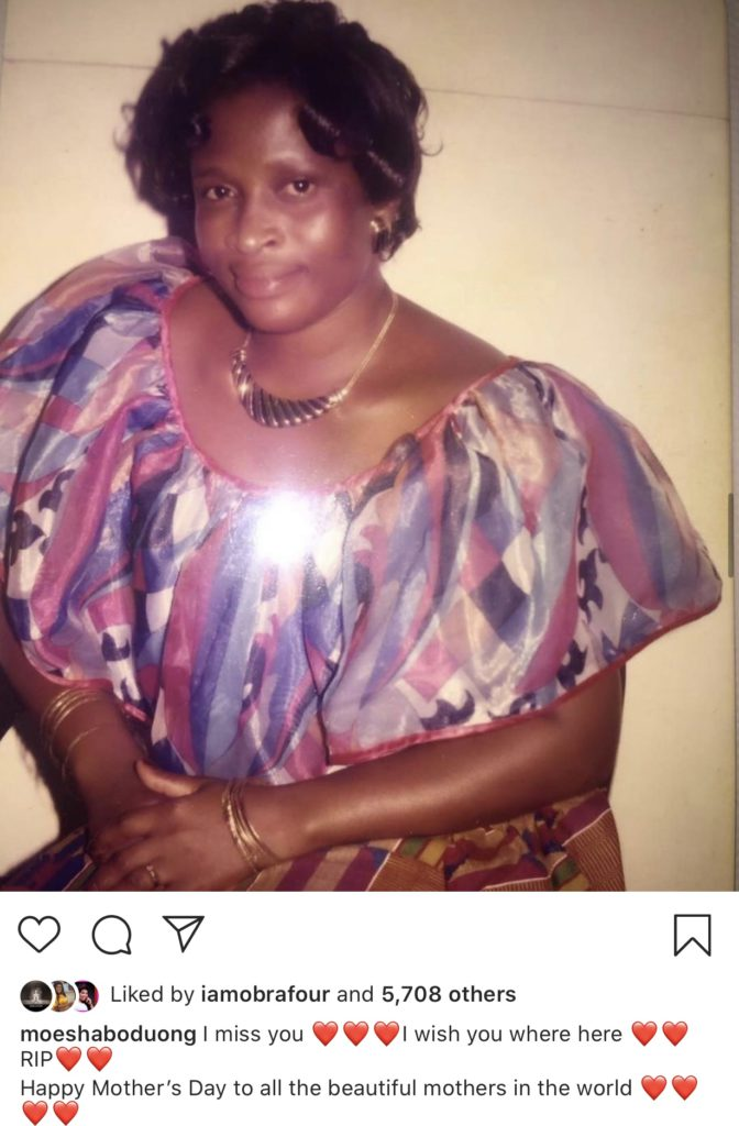Shatta Michy celebrates her dead mother. I miss you...I wish you were here ...RIP, she posted.