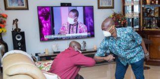 akufo addo and kweku baako in elbow shake
