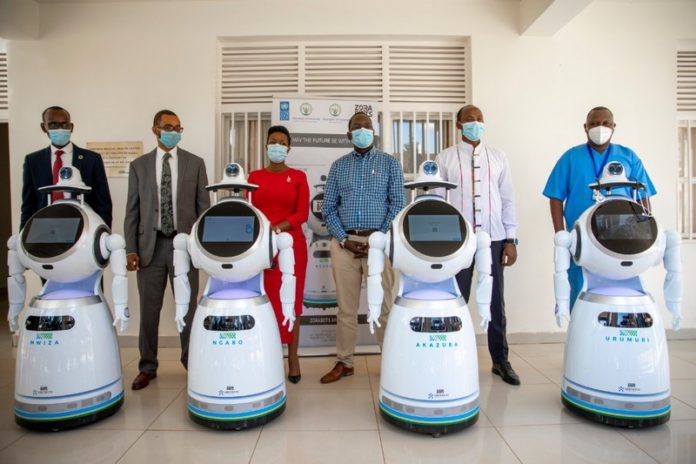 Robots being used to attend to Coronavirus patients in Rwanda.