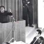 Kwame Nkrumah giving his speech at the founding of OAU