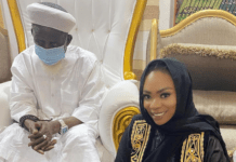 Shatta Michy, the baby mama of Shatta Wale has received blessings from the National Chief Imam of Ghana, Sheikh Osmanu Nuhu Sharubutu