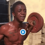 Video of a young man, who was caught red-handed for stealing in Teshie in Ghana went viral