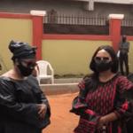 Nana Ama McBrown and Christiana Awuni were at the late Bernard Nyarko's home in Lakeside Ashaley Botwe for his one week memorial