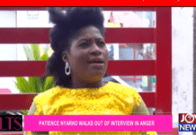 Gospel artiste Patience Nyarko has been spotted in a viral video walking out of an interview with JoyNews reporter Becky.