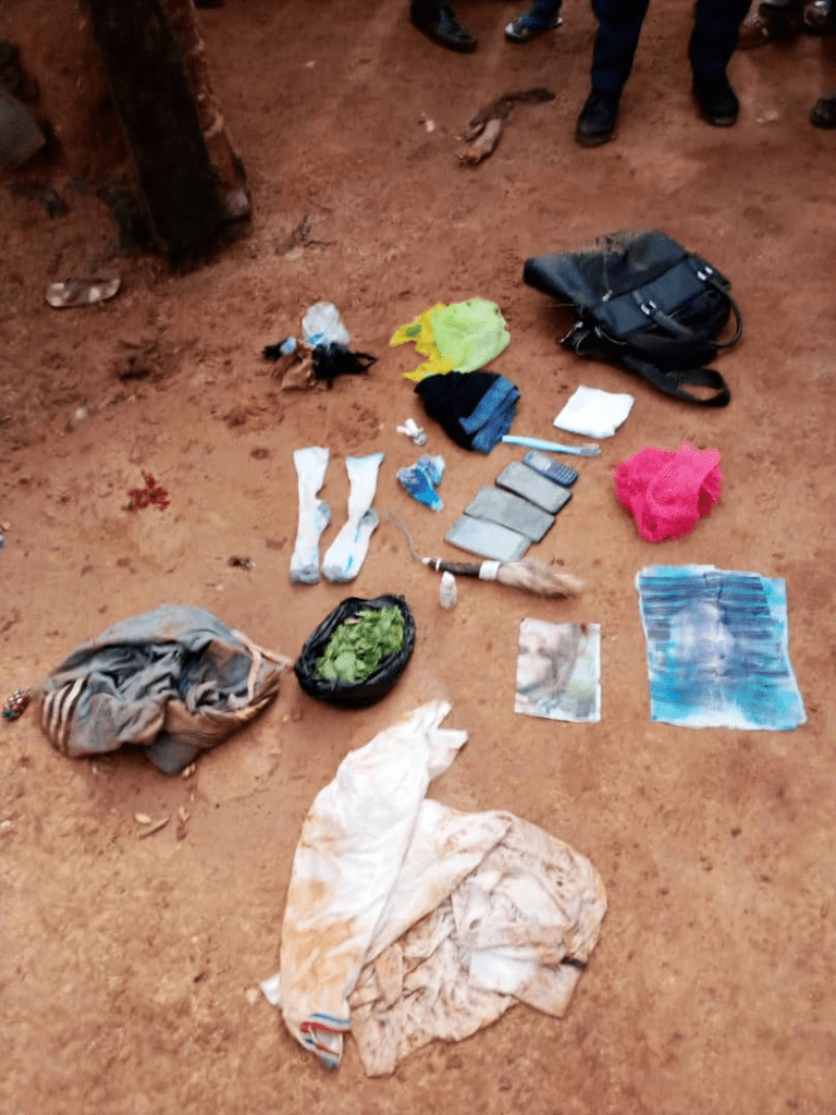 Some items found on the suspected ritualist