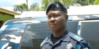 Police Inspector identified as Duut Azumah with Operation Vanguard