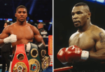 File Photo: Boxers Anthony Joshua and young Mike Tyson