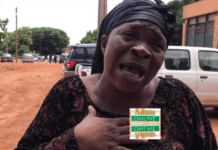 Reverend Grace Adusei, who is an aunt to the deceased, Mr Benjamin Okyere, Ofankor tenant, who was shot by Victor KamKam