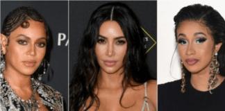 Beyoncé, Kim Kardashian West and Cardi B (Getty Images)
