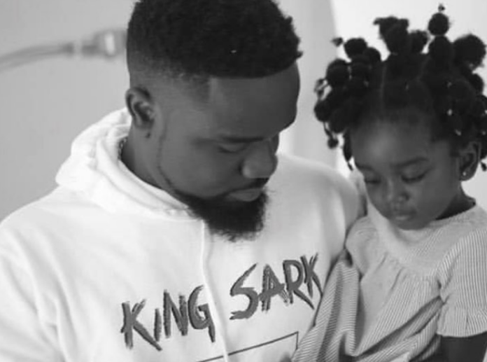 Sarkodie and his daughter, Titi