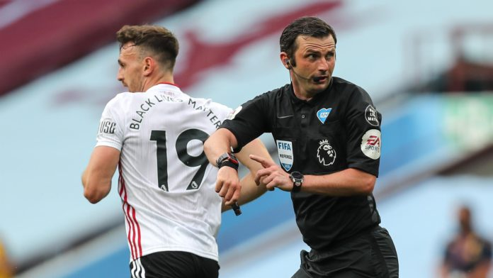 Michael Oliver was centre of attention for the wrong reasons Image credit: Getty Images