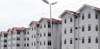 A photo of government's affordable housing project