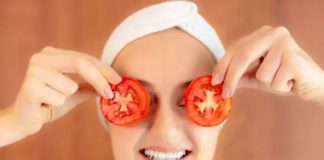 tomatoes on face