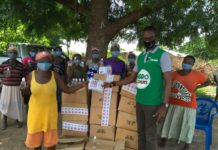 Sinapi Aba Savings and Loans make donations to clients