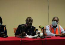 Officials of GRA addressing the media