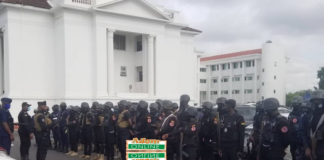 heavy security at supreme court