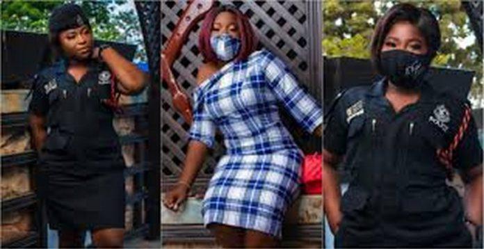 beautiful police woman