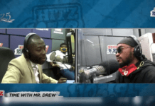 Andy Dosty interviews Mr Drew on Daybreak Hitz on Hitz 103.9 FM.
