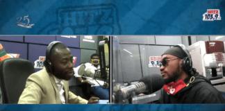 Andy Dosty interviews Mr Drew on Daybreak Hitz on Hitz 103.9 FM.