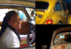 Pascaline Edwards shows off first car she bought with her own money