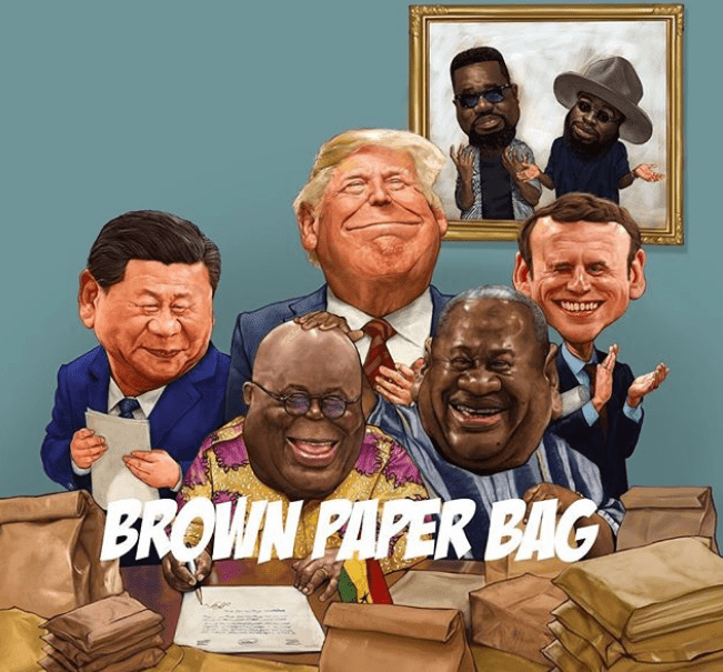 Sarkodie's artwork for Brown Paper Bag song
