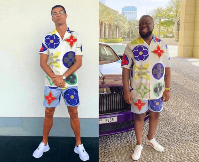 From left: Cristiano Ronaldo vrs Hushpuppi