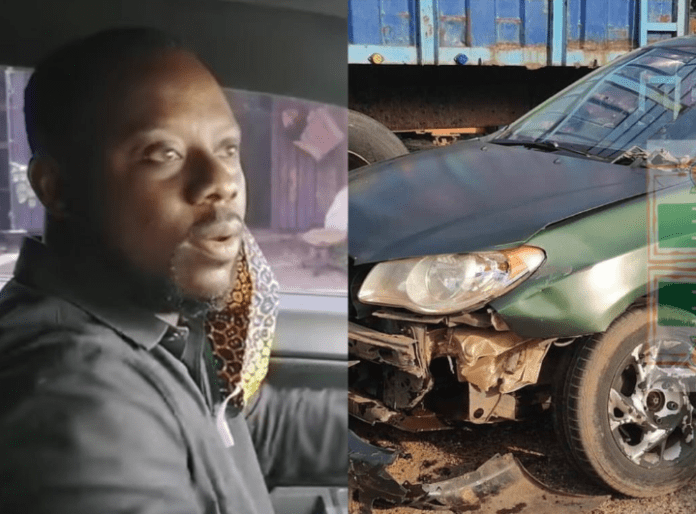 Kejetia vs Makola star Richmond Xavier Amoakoh popularly known as Lawyer Nti has been involved in a motor accident.