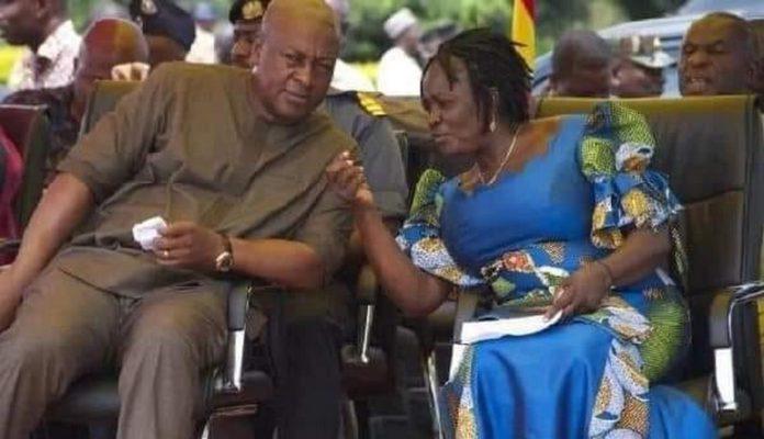 John Mahama and Prof Jane Naana Opoku Agyemang