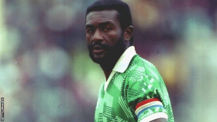 Stephen Tataw was captain of Cameroon as they reached the quarter-finals of the 1990 World Cup in Italy