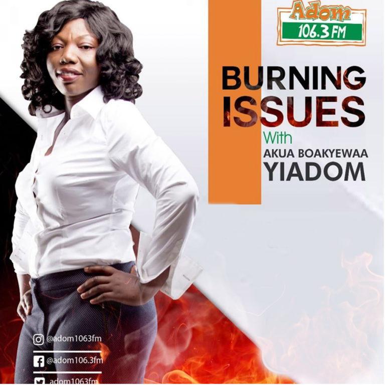 ADOM FM BURNING ISSUES
