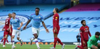 Raheem Sterling celebrates for Manchester City, 2020 Image credit: Getty Images