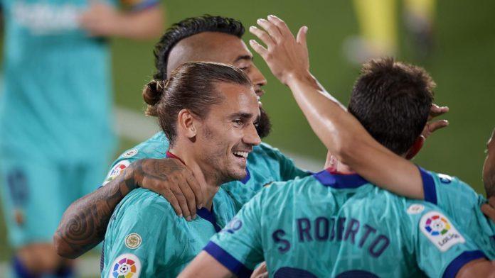Antoine Griezmann trifft gegen Villarreal Image credit: Getty Images