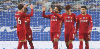 Mohamed Salah ouvre le score pour Liverpool face à Brighton le 8 juillet 2020 en Premier League Image credit: Getty Images