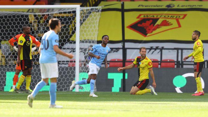 Raheem Sterling celebrates scoring the opening goal Image credit: Getty Images