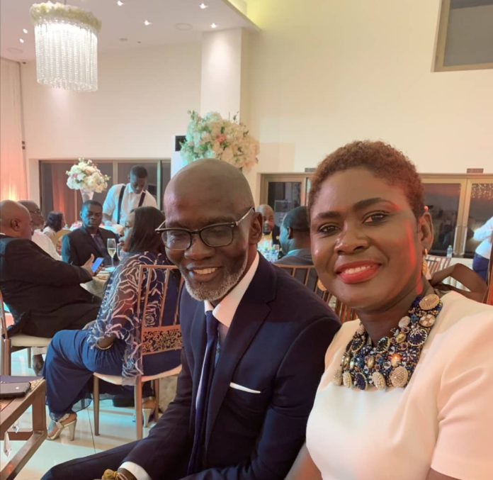 Gabby Asare Otchere-Darko and wife