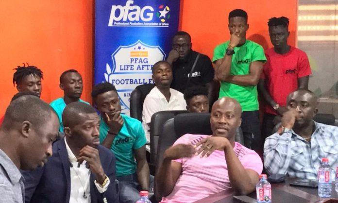 PFAG officials with Ghana Premier League players