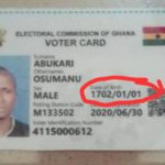 wrong date on voter id card