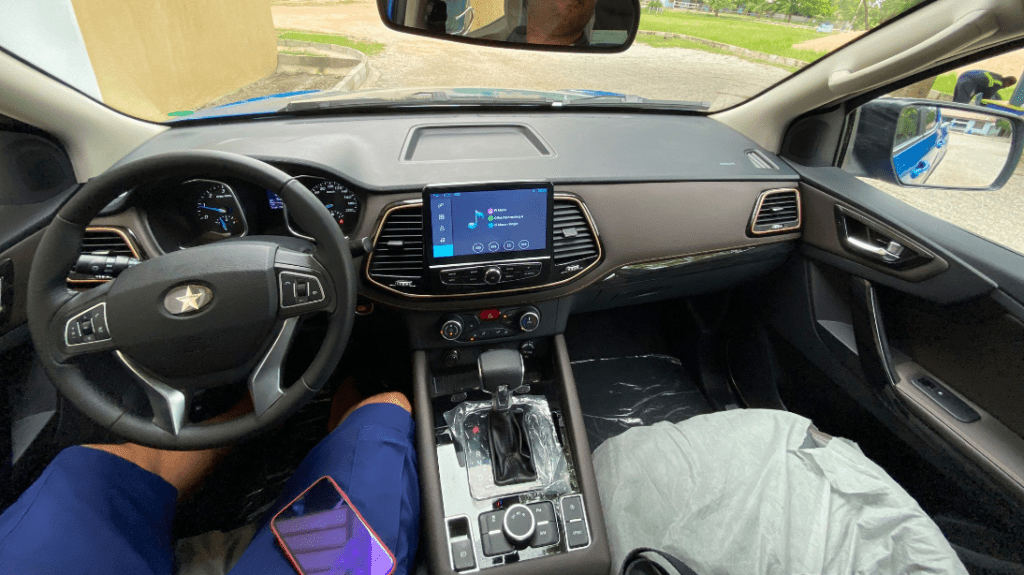Interior of latest 4x4 pickup truck made by Kantanka Automobile in Ghana
