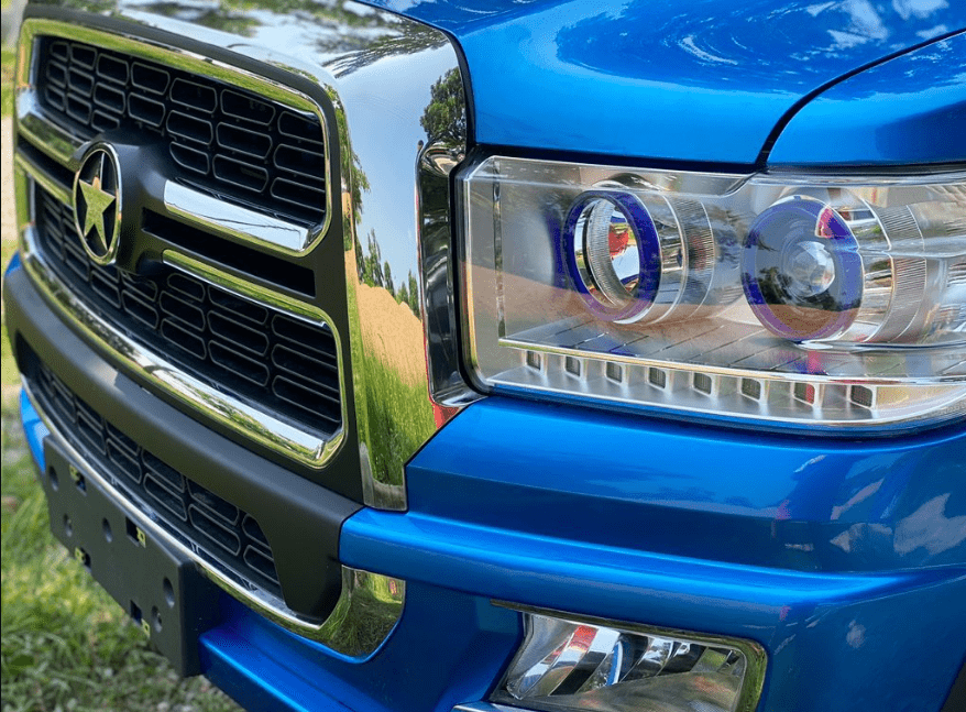 Headlights of latest Kantanka Omama car