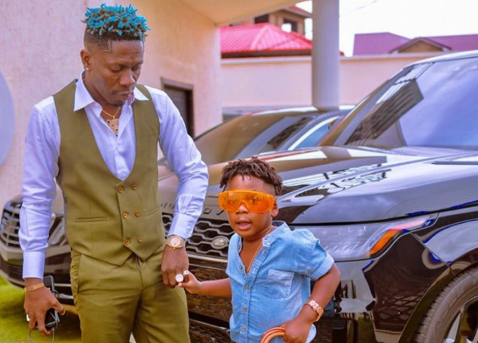 Shatta Wale and his son Majesty