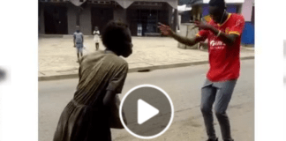 """""""mad woman"""" dances to Stonebwoy's Putuu song"""