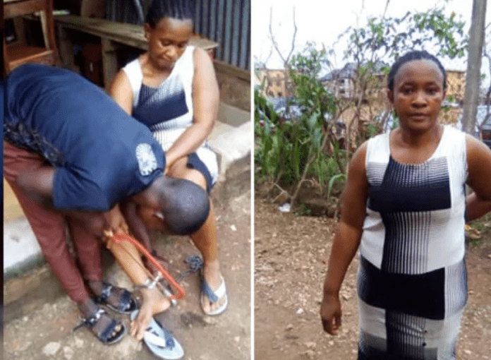 Neighbours said the suspect hit his daughter's head with the chain while she was trying to stop him from beating her mother. Photo credit: Nigerian Tribune