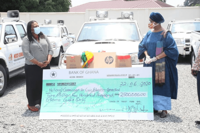 Covid-19 Trust Funds 'spoils' NCCE with donations worth GH₵2.5m