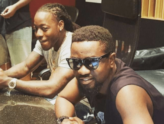 Sarkodie and Ace Hood in the studio in 2015