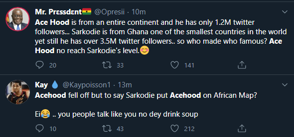 Ghanaians react to Ace Hood calling Sarkodie a liar on social media
