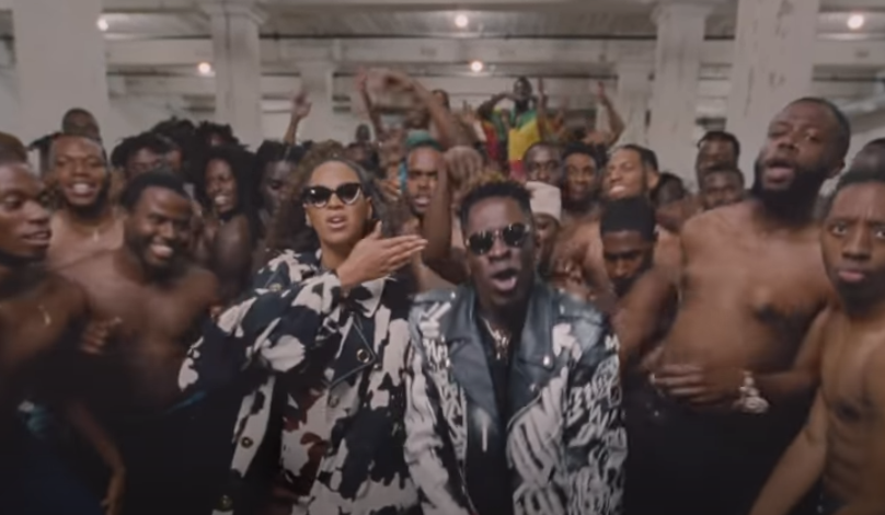 Beyonce and Shatta Wale don similar attires in the Already music video