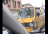 Social media users react to video of Nigerian driver who uses leaves as his car's wiper [Watch]