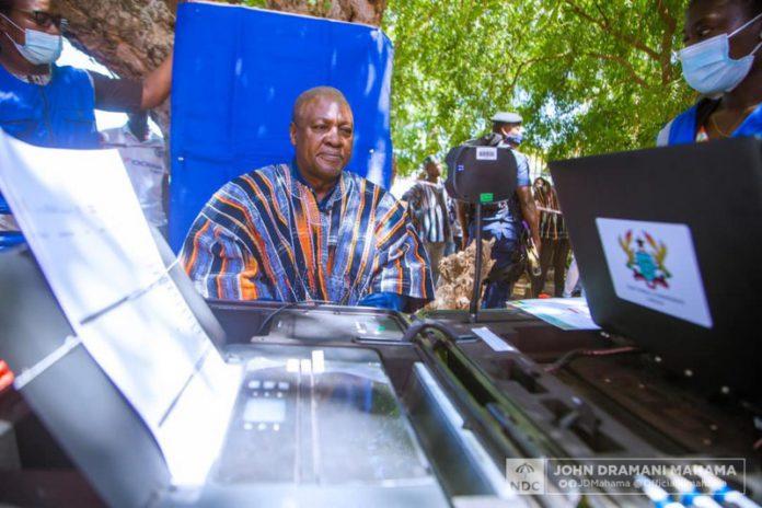 John Mahama gets voter ID Card