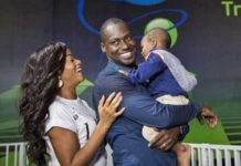 Chris Attoh, wife and son